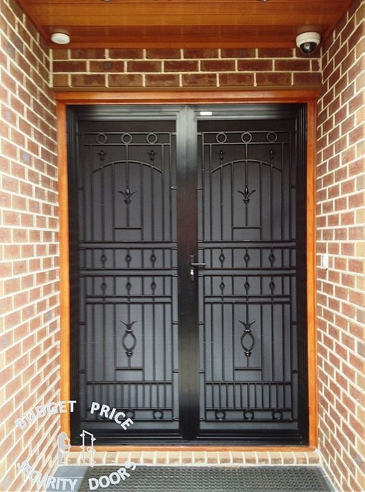 Another two joint black cast grille security door in Melbourne. & 10 best Cast Grille Security Doors Melbourne images on Pinterest ...
