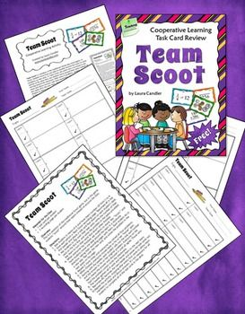 Free Team Scoot activity - Cooperative learning variation of the traditional whole class Scoot