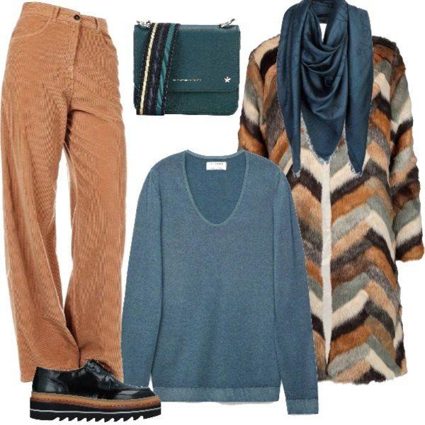 best service 15eca bb0fc Maglioncino in cashmere, pantalone in velluto, stringate con ...