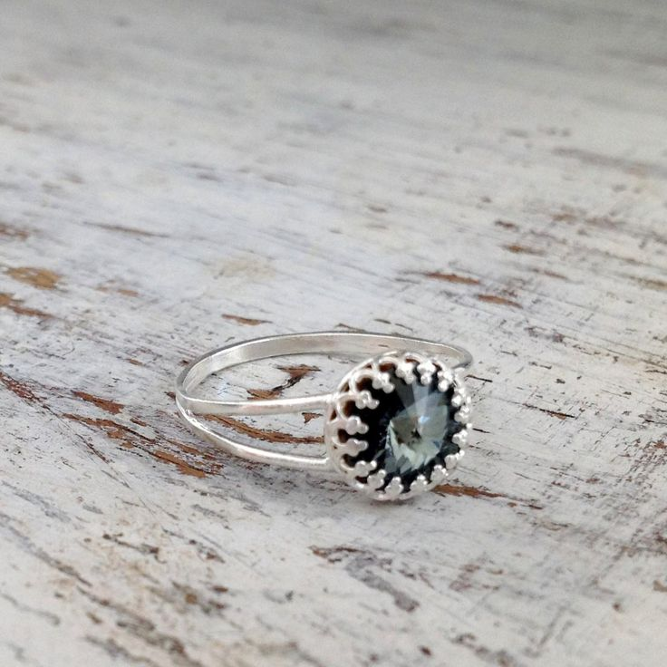 Silver ring, cocktail ring, stacking ring, vintage ring, stackable ring…