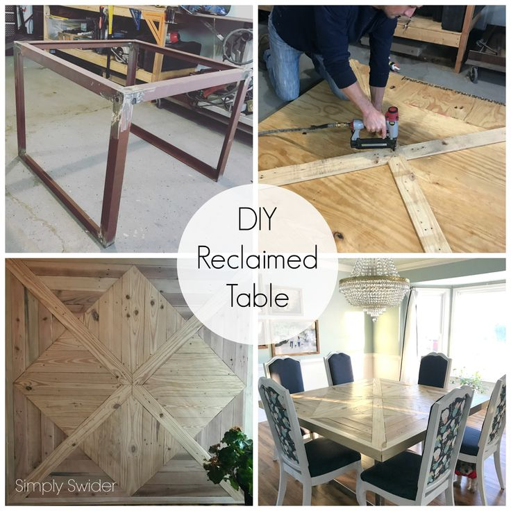 Reclaimed wood dining table reveal