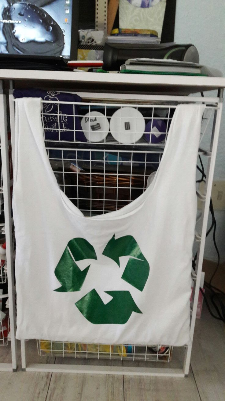 Recycled t-shirt shopping bag