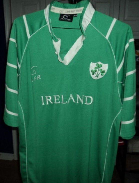 LFR RUGBY JERSEY MACHINE EMBROIDERED IRELAND SHAMROCK ST PATRICK'S GREEN XXL #LIVEFORRUGBY