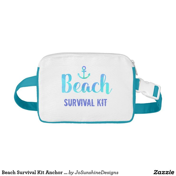 Beach Survival Kit Anchor Watercolor Fanny Pack