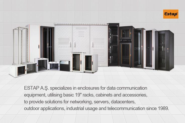 """ESTAP has been a major player in the Turkish electronics enclosures industry since 1989. ESTAP A.Ş. specializes in enclosures for data communication equipment, utilising basic 19"""" racks, cabinets and accessories, to provide solutions for networking, servers, datacenters, outdoor applications, industrial usage and telecommunication. www.estap.com.tr"""