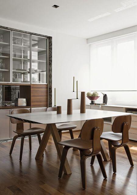 дневник дизайнера: Стильная квартира в Бразилии: оттенки серого и натуральное дерево