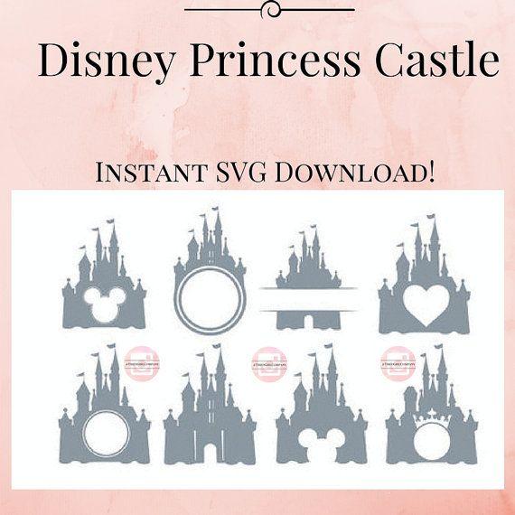 Disney princesa Castillo SVG en una instantánea Descargar archivo cortar archivo Zip para imágenes prediseñadas de Castillo de princesa de SVG de Cricut lindo camisas juego Diy SVG svg