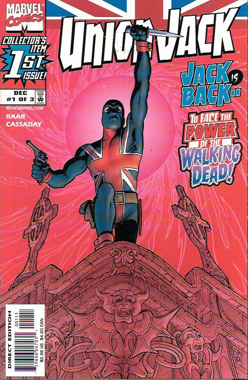 Tradition __Written by Ben Raab and John Cassaday. Art and cover by John Cassaday , When the failing actor named Joey Chapman inherited the mantle of Union Jack, Great Britain's protector, he also inh