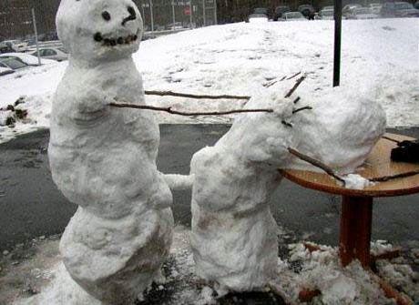 Bilderesultat for funny snowmen