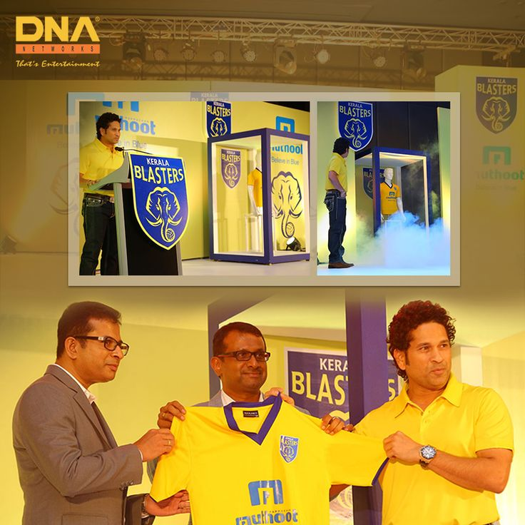 We got the legend #SachinTendulkar to launch the jersey of Kerala Blasters.
