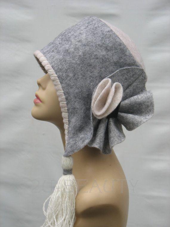 Felted Gray Hats Unique felt Hat Winter Hats gothic lolita Hat