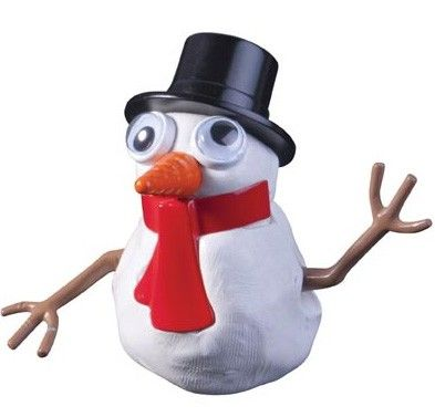 Introducing Frosty the Melting Snowman: Half the fun of sculpting this funny fellow out of goo is watching him slowly melt into a heap. Then putting him back together again! #stockingstuffers #christmastoys #Entropychristmascatalogue http://www.entropy.com.au/frosty-the-melting-snowman
