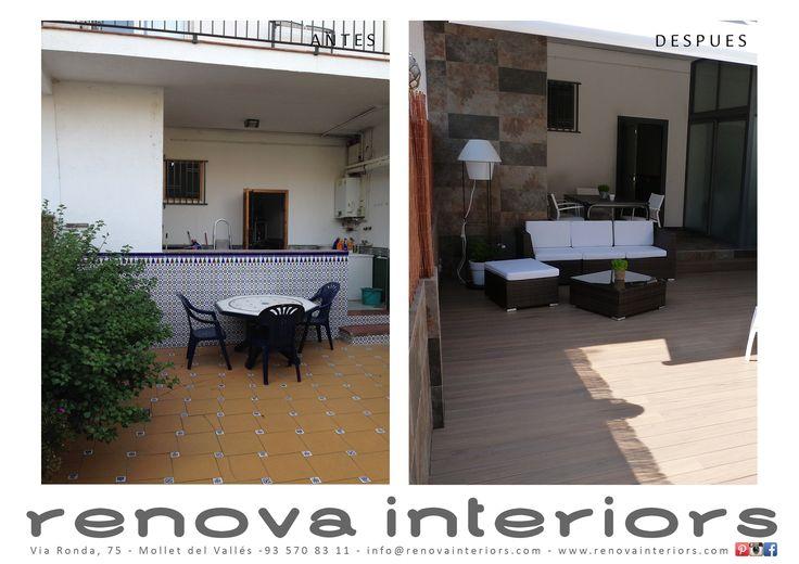 Antes y despues terraza - Reformas de terrazas ...