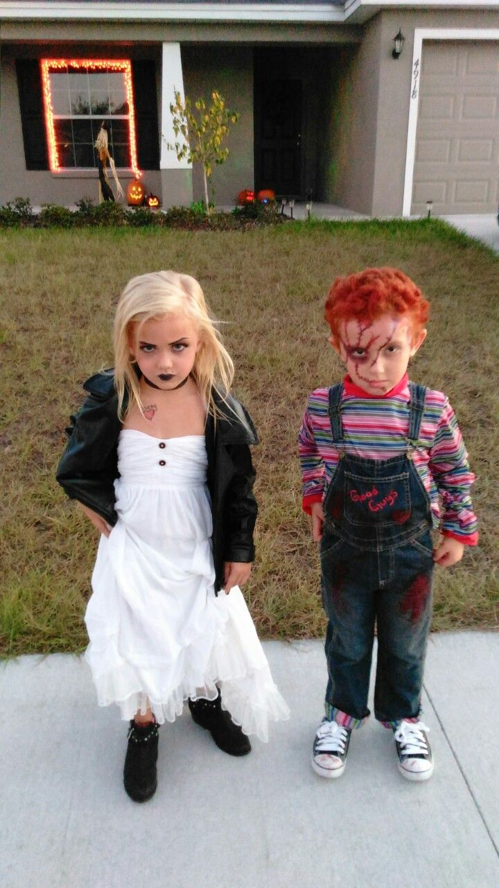 Chucky and his bride Bride of chucky costume, Scary girl