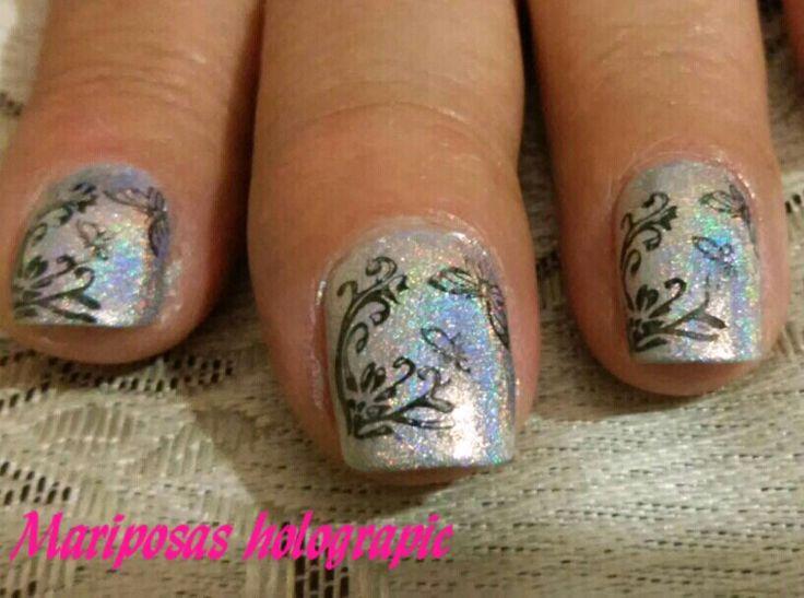 Mejores 30 imágenes de Mis uñas en Pinterest | Mariposas, Para y Pozas