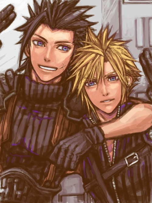 Zack and Cloud (Final Fantasy VII Crisis Core)