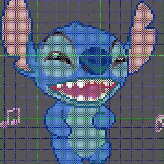 Stitch perler bead pattern by Ashes Toro