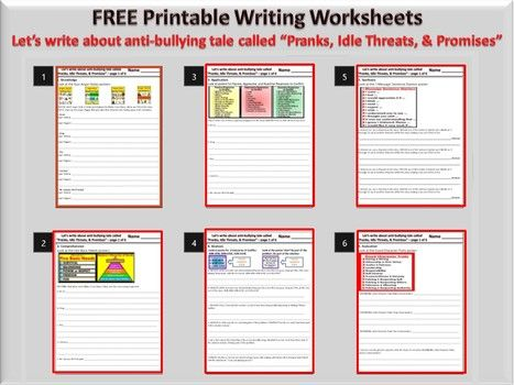 Worksheets Bullying Worksheets For Middle School 1000 ideas about bullying worksheets on pinterest national printable anti worksheet write pranks idle threats promises