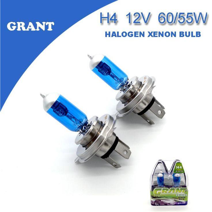1 SET SUBSIDIE H4 12 V 60/55 W Halogeen Xenon Lampen 6000 K Heldere Witte Auto Koplamp Vervanging lampen Automobiles Licht Gratis verzending