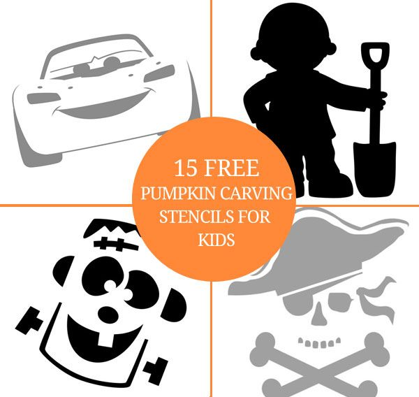 15 more free pumpkin carving stencils for kids plus link to 15 more