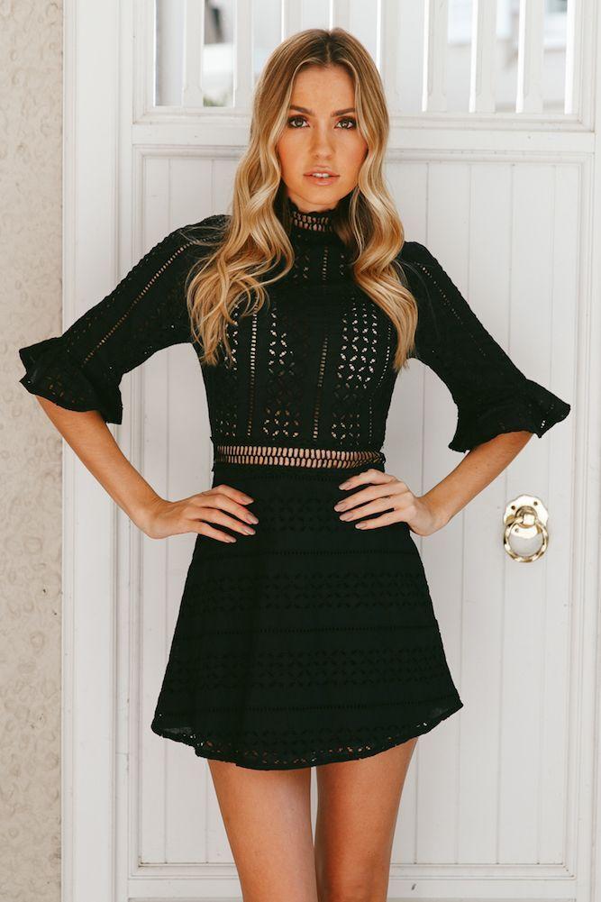 HELLO MOLLY King City Dress Black