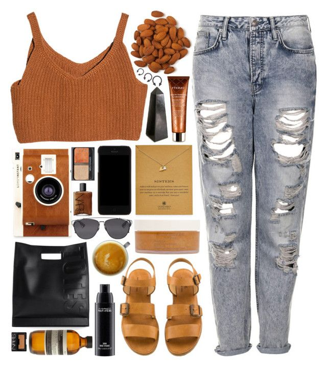 Rusty Coffee by ladyvalkyrie on Polyvore featuring moda, Topshop, 3.1 Phillip Lim, Dogeared, Dolce&Gabbana, Christian Dior, MAC Cosmetics, NARS Cosmetics, Aesop and By Terry