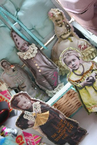 Go and play with your great aunts! Make dolls using old family photos!