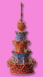 """""""Akhbar's Cake,"""" crafted by exceptional sugar artist Margaret Braun, New York...rich jewel tones and incredibly ornate gilt embellishments with an exotic Middle Eastern flair...truly sublime!!!"""