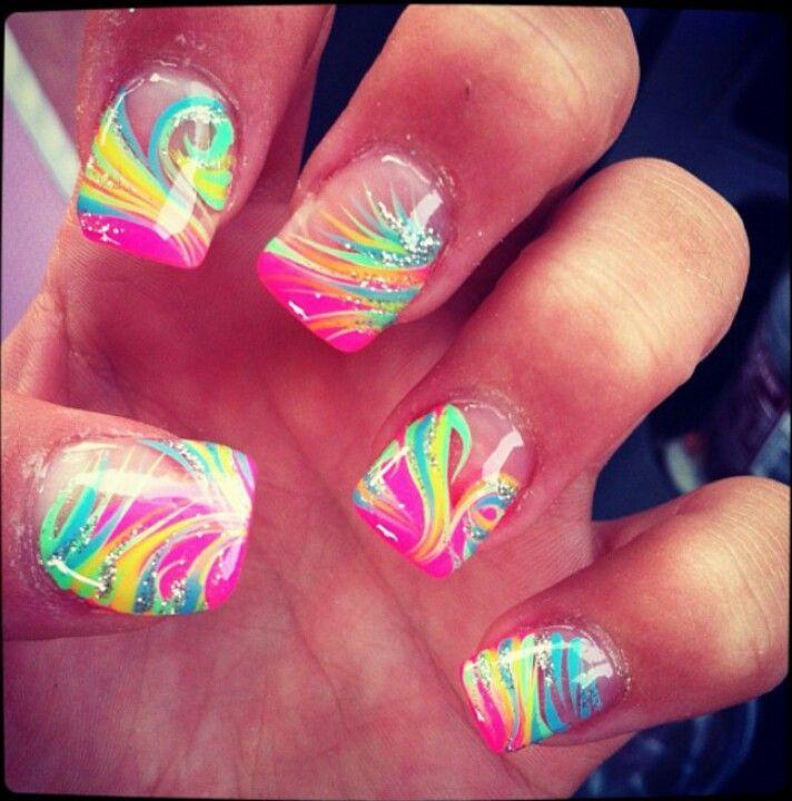 best 25 bright acrylic nails ideas on pinterest acrylic