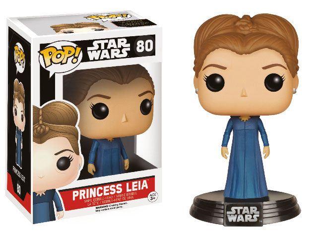 Cabezón Princesa Leia 9 cm. Star Wars Episodio VII. Línea POP!. Funko