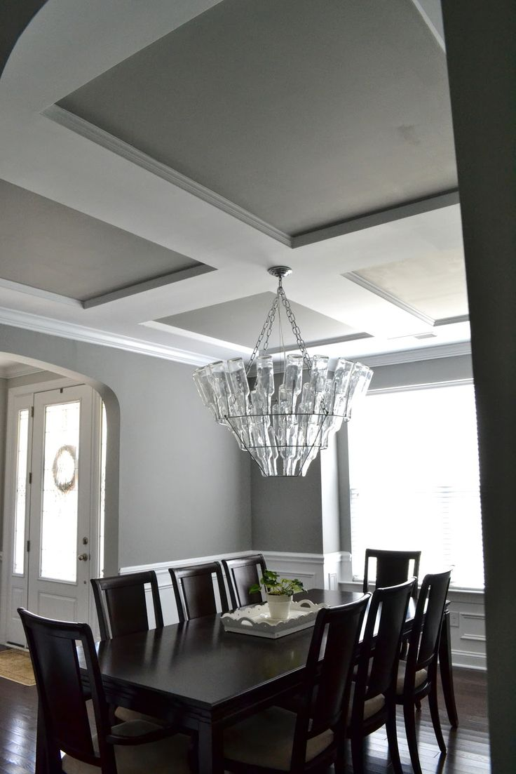 best 25 gray dining rooms ideas only on pinterest beautiful ceiling trim with painted ceilings sherwin williams gray matters nice medium gray