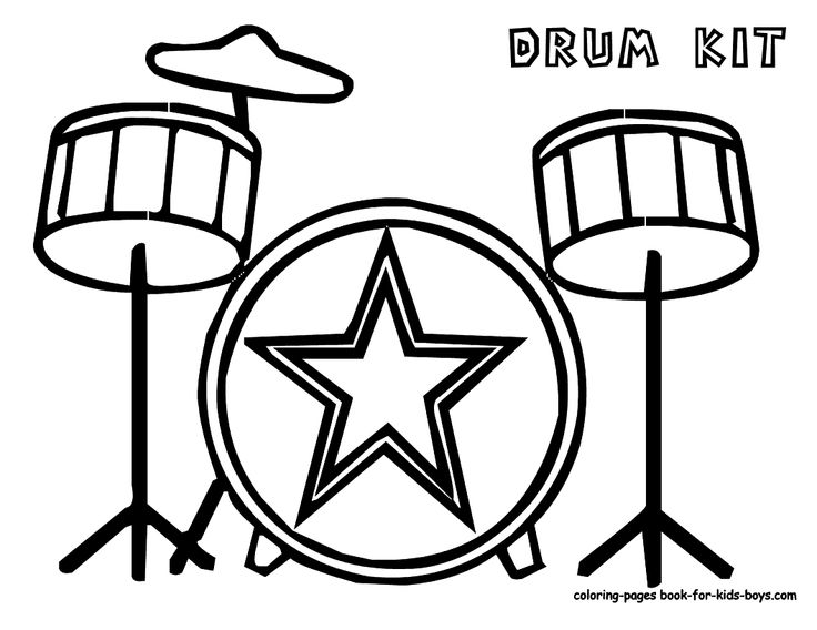 Rock Coloring Pages For Kids Free To Print New Music