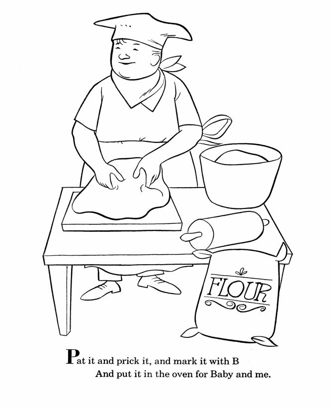 bluebonkers nursery rhymes coloring page sheets pat a cake 2 mother goose