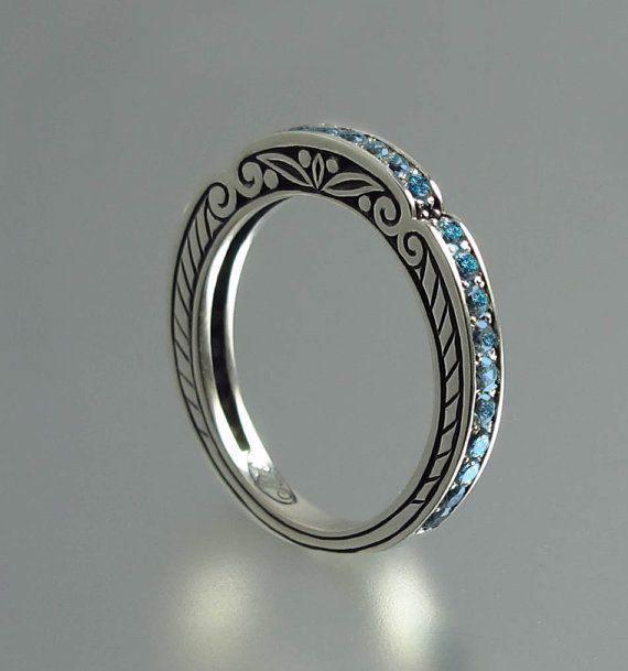 CARYATID wedding band in sterling silver with London by WingedLion, $295.00
