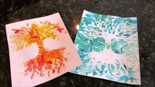 How to make Shaving Cream Prints- ABSTRACT TECHNIQUE - YouTube