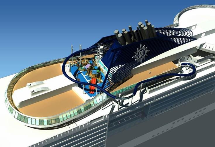 Vertigo, MSC Preziosa, MSC #Crociere   http://dreamblog.it/2012/12/06/a-bordo-di-msc-preziosa-vertigo-lo-scivolo-dacqua-piu-lungo-mai-installato-su-una-nave-da-crociera/