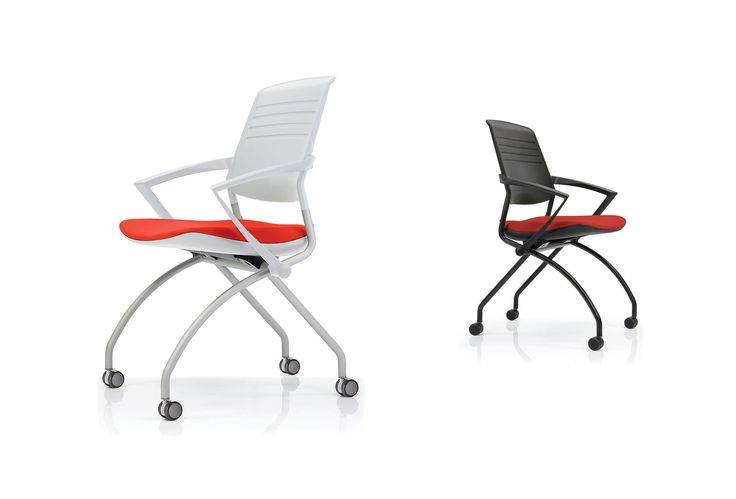 #Muzo Switch chairs. The comfortable flip seat allows for nesting
