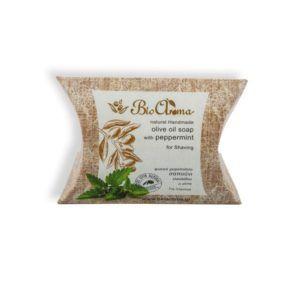Handgemaakte olijfolie zeep met peppermunt. Scheerzeep