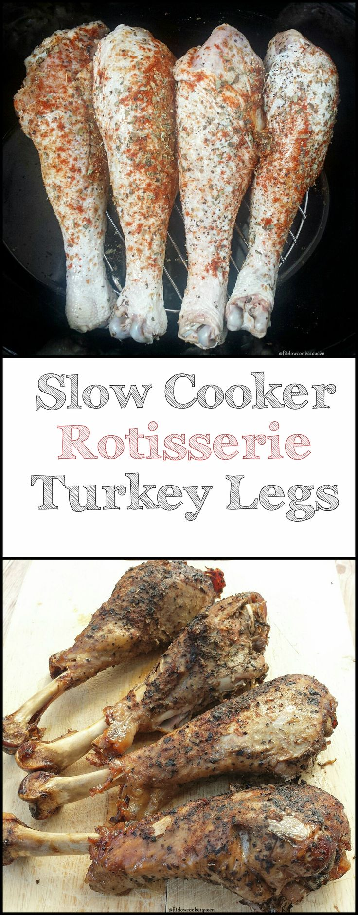 It doesn't need to be Thanksgiving for you to appreciate this easy yet flavorful slow cooker rotisserie turkey leg recipe.