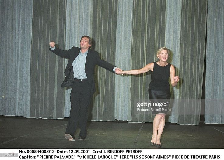 Pierre Palmade 'Michele Laroque at thePremiere Of The Paris Theatre Production Ils Se Sont Aimes In 2001.