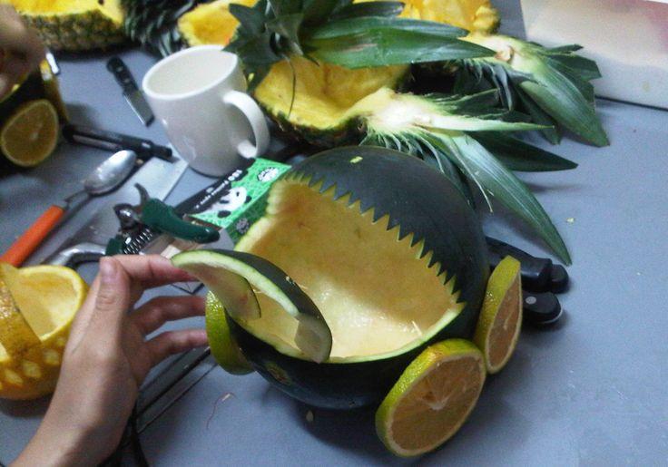 Cochecito de bebe en sandía, aprendiendo el arte de las frutas en Enfrutados! www.enfrutados.com