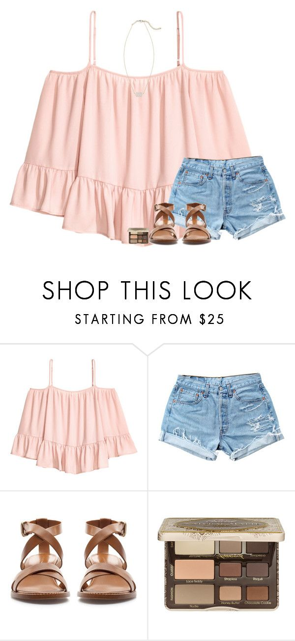 """""""Back with my BFF ☺️☺️"""" by stripedprep ❤ liked on Polyvore featuring Volant, Levi's, Zara, Too Faced Cosmetics and Kendra Scott"""