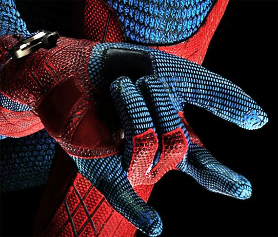 Check out an up close and personal view of Spidey's web shooters.