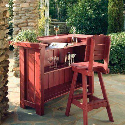 Uwharrie Companion Outdoor Bar Stool With Back   5062 000