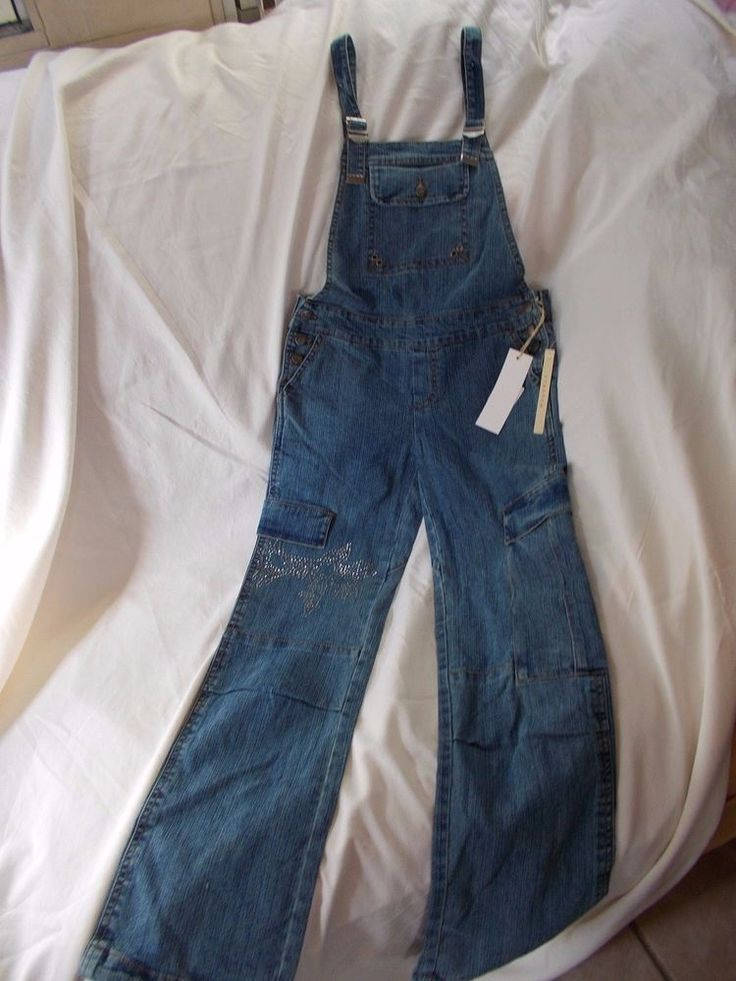 GIRLS OVERALLS/COVERALLS, DENIM WITH BLING, NWT SZ 12 #JEWEL #Overalls #Everyday