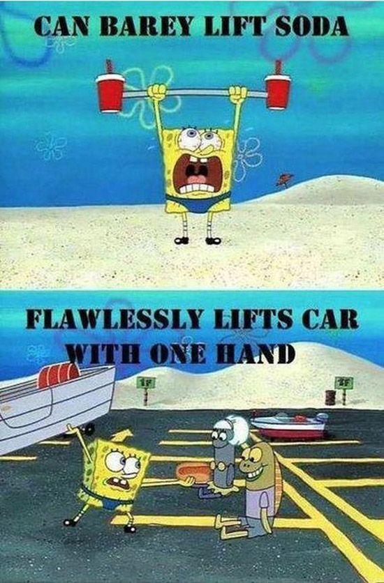 32 Examples of Funny Cartoon Logic ~ Bath Underwater Spongebob