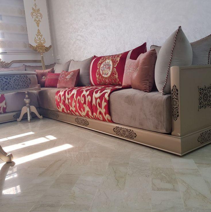 Banquette Marocain En Bois Sculpte Salon Marocain En Bois Table Salon Marocain Salon Marocain Design Decoration Salon Marocain Moderne