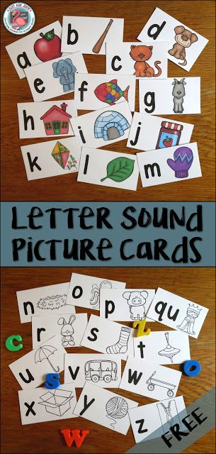 These free letter/ sound picture cards are designed for introducing letters and…