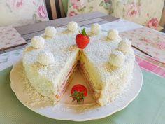 Raffaelo-Torte, Kokos-Torte, Erdbeertorte