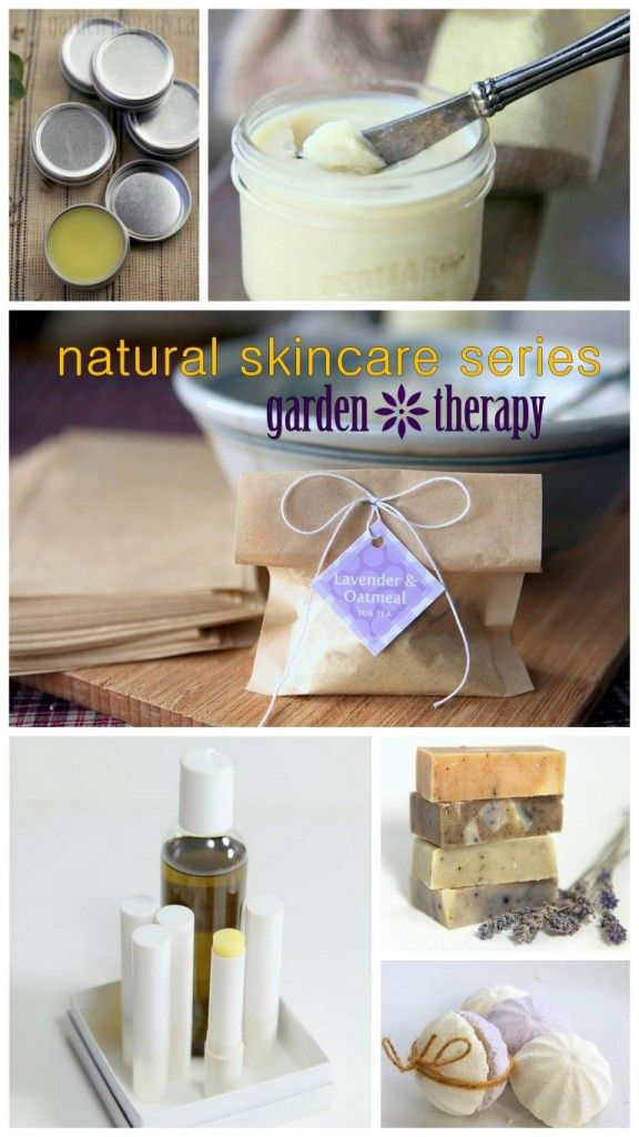 All Natural Skincare Recipes from Garden Therapy